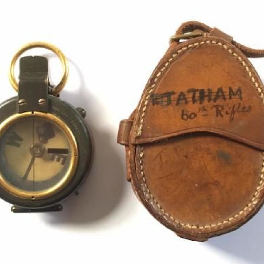 WW1 KRRC Attributed Officer's Compass 1910