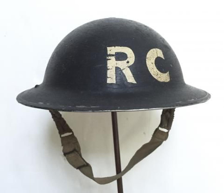 WW2 Civil Defence Report & Control Officer's Steel Helmet.
