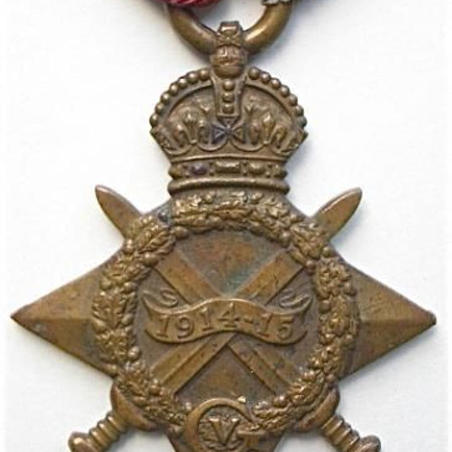WW1 Army Service Corps Officer RAF 1914/15 Star.