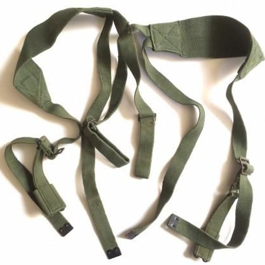 British 1944 Web Equipment Cross Straps 1945 Dated