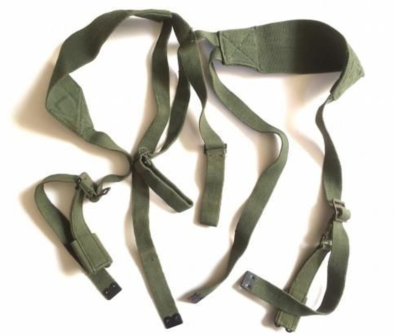 British 1944 Web Equipment Cross Straps 1945 Dated