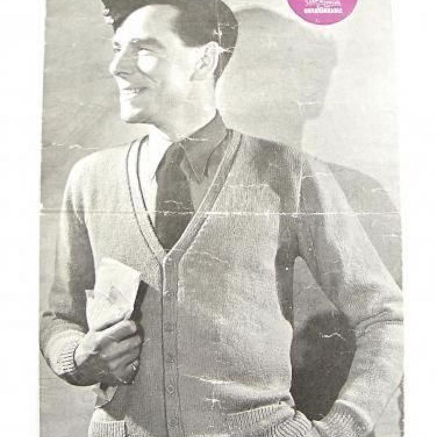 WW2 Period RAF Knitting Pattern.
