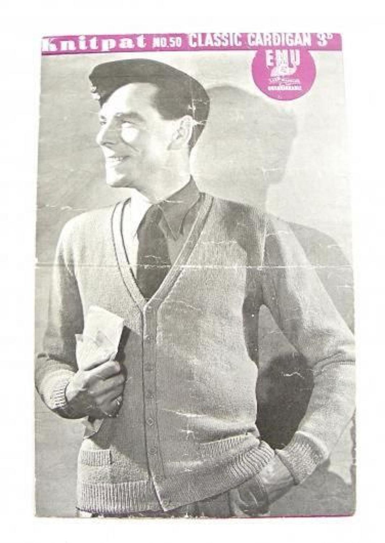 WW2 Period RAF Knitting Pattern.