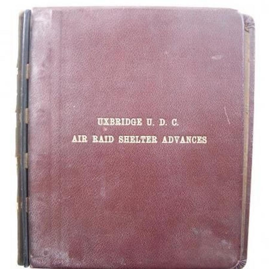 WW2 Uxbridge Urban District Council Air Raid Shelter Advances Folder C