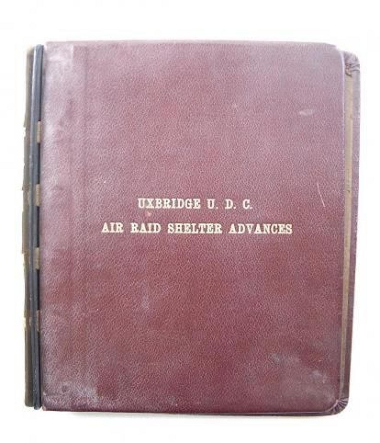WW2 Uxbridge Urban District Council Air Raid Shelter Advances Folder C