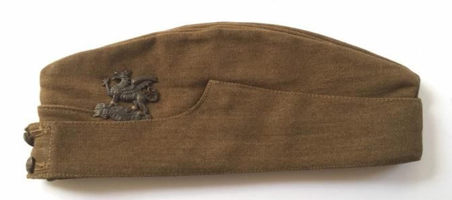 WW2 The Buffs Other Rank's Side Cap.
