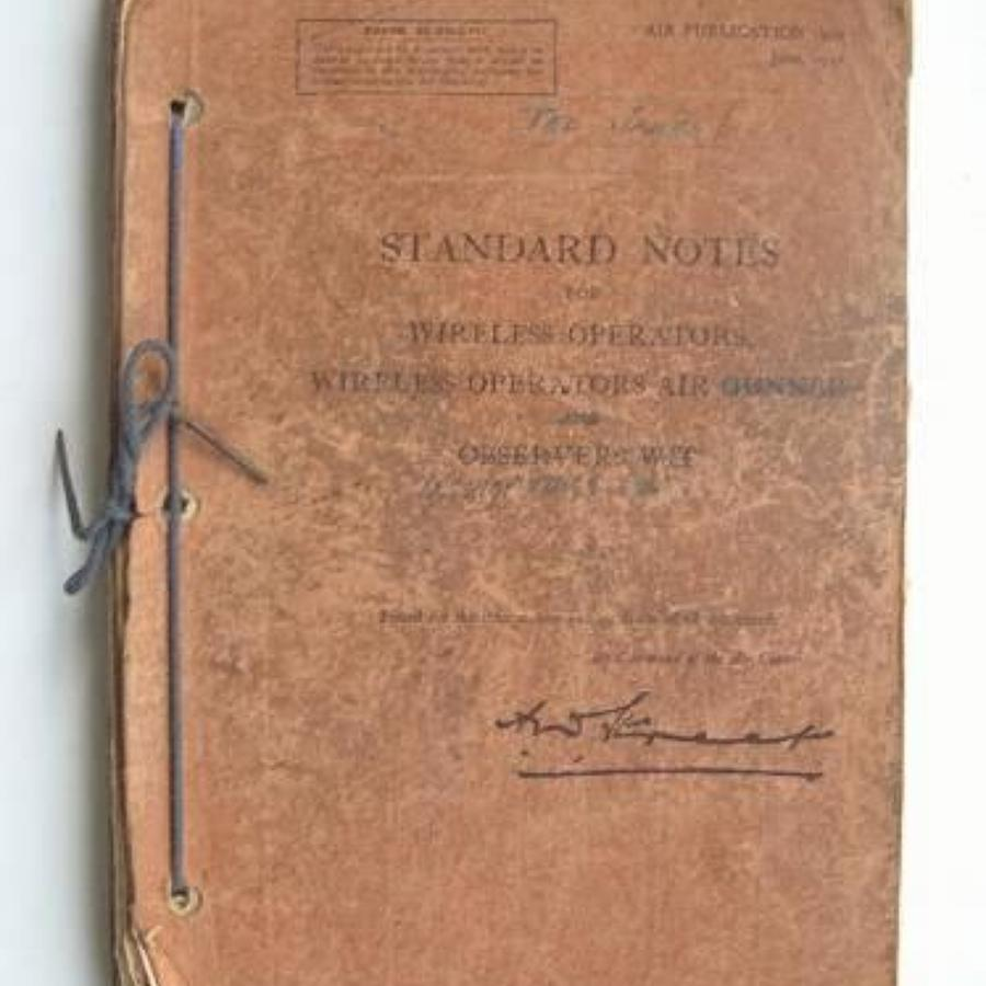 WW2 1944 RAF AP 1970 Standard Notes for Wireless Operators