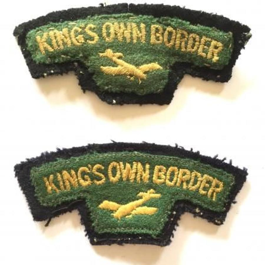 King's Own Border Airborne Glider Shoulder Titles Badge