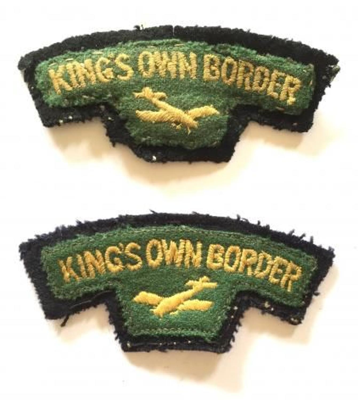 King's Own Border Airborne Glider Shoulder Titles Badge