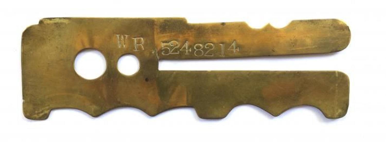 Worcestershire Regiment Brass Button Stick.
