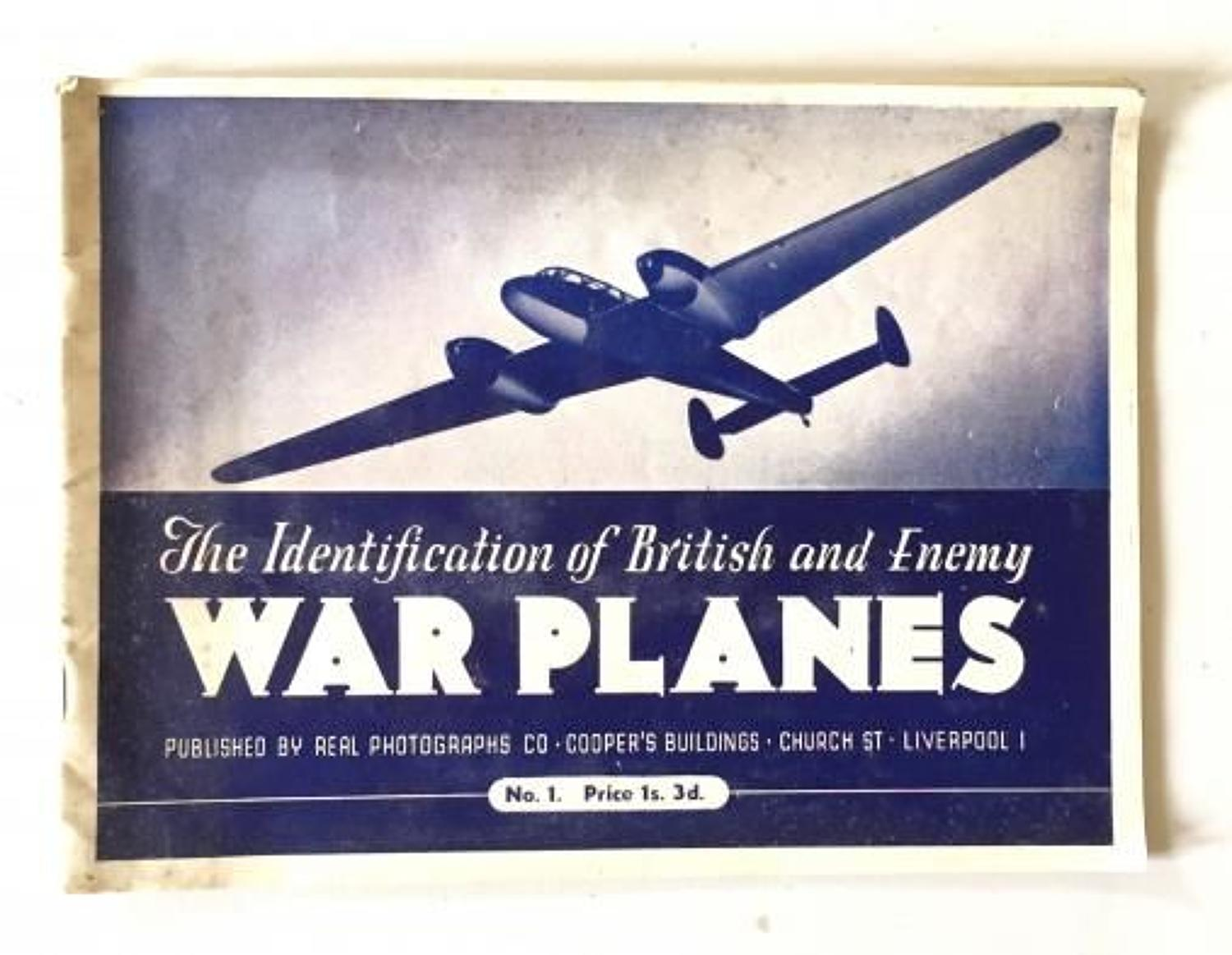 WW2 Aircraft Recognition Booklet No.1