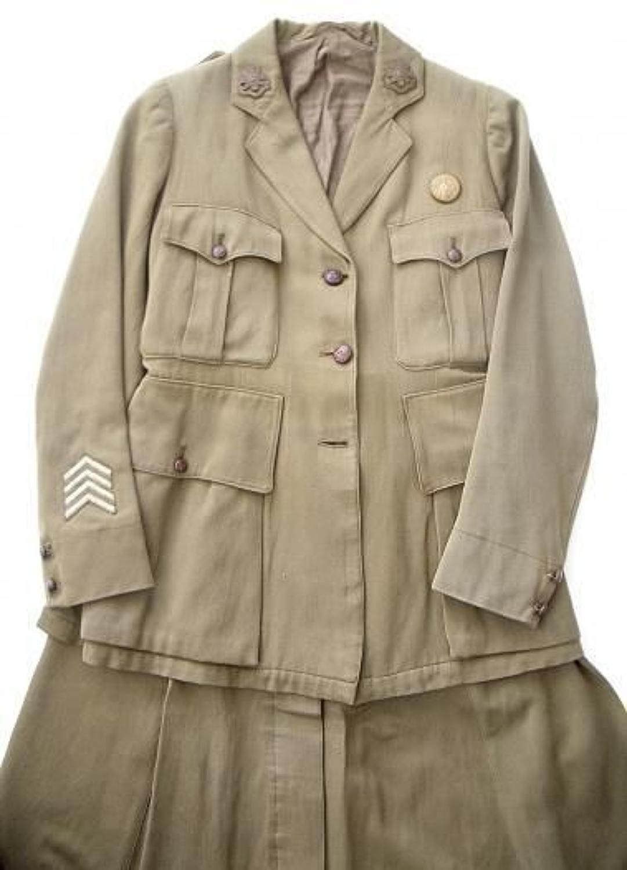 WW1 Women's Voluntary Reserve Tunic & Skirt.