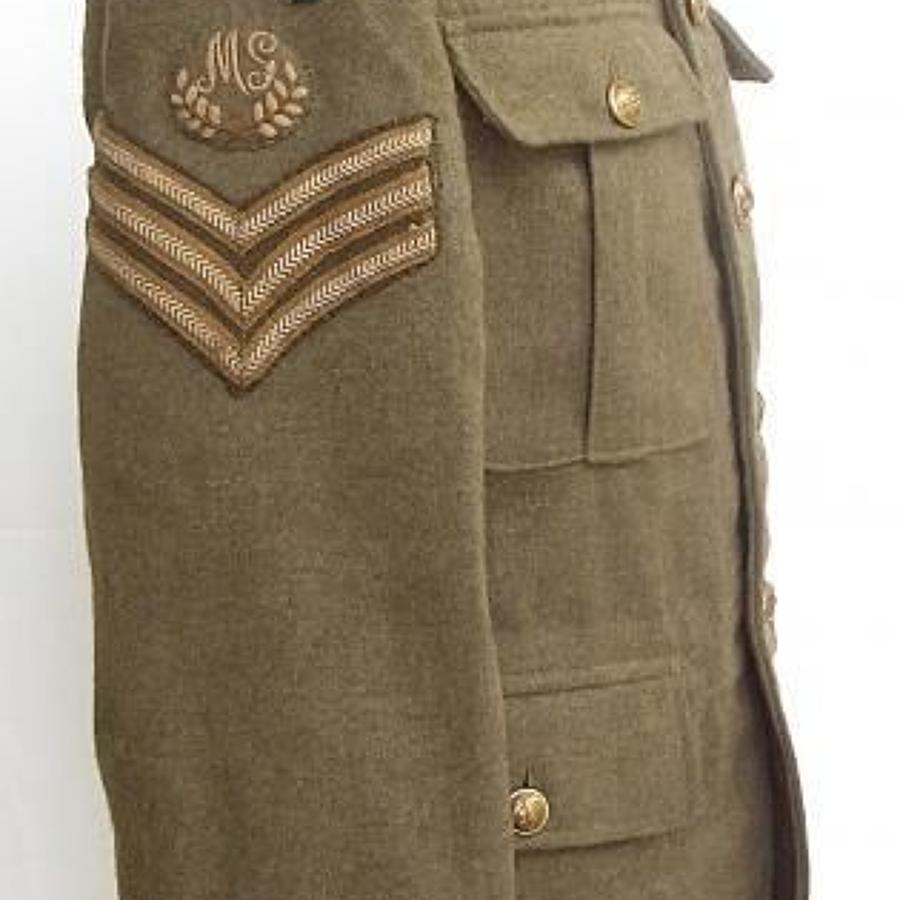 WW1 1918 215th Company Machine Gun Corps Divisional Badged Tunic
