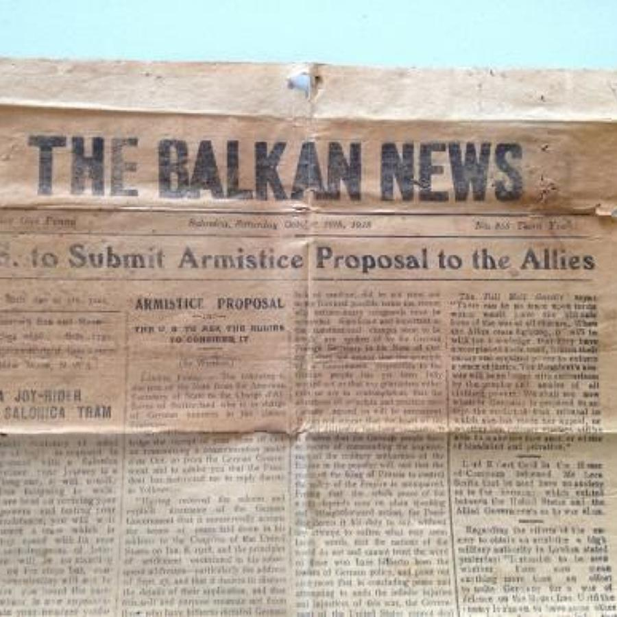 WW1 1918 Balkan News Paper