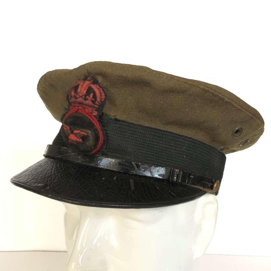 WW1 1918 RAF Other Rank's Khaki Cap.