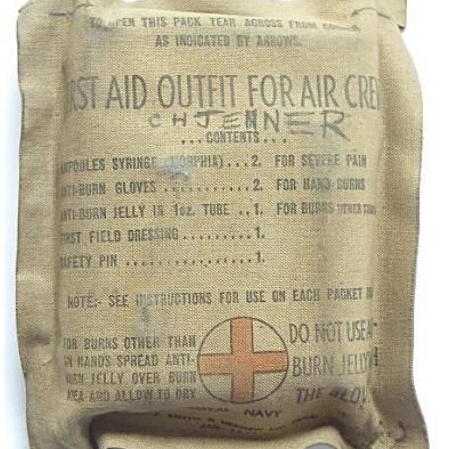 WW2 1944 Fleet Air Arm Aircrew First Aid Pack.