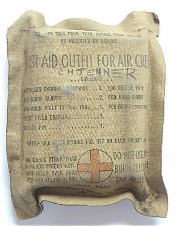 WW2 1944 Fleet Air Arm Aircrew First Aid Pack.