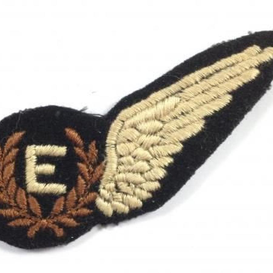 WW2 Period RAF Flight Engineer Brevet Badge.