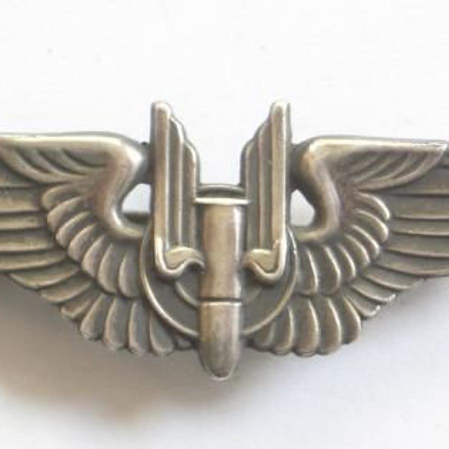 WW2 Period US Air Force Silver Miniature Air Gunners Wings