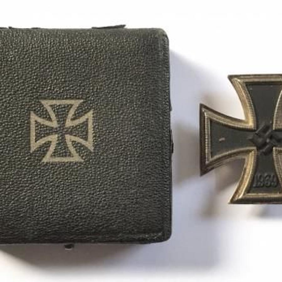 German Third Reich WW2 Cased 1939 Iron Cross 1st Class by C.F. Zimmerm