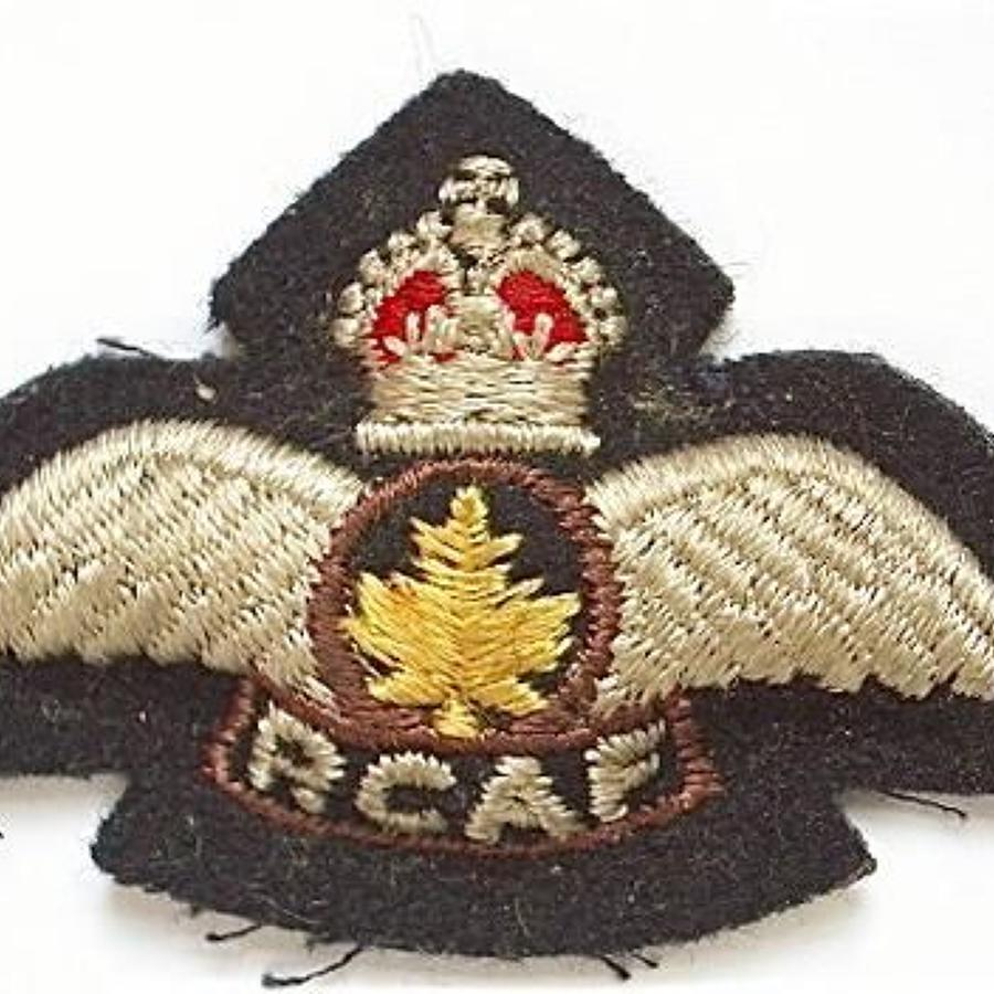 RCAF Canadian  1948-1953 Pilots Wings, for NATO Pilots.