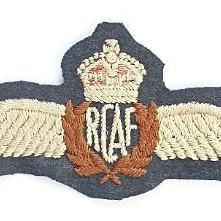 Royal Canadian Air Force Pilots Wings.