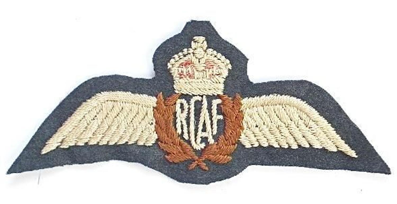 Royal Canadian Air Force Pilots Wings.