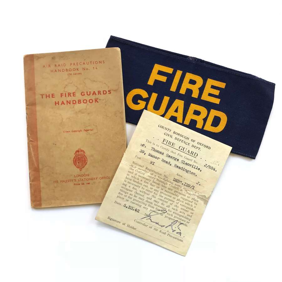 WW2 1942 Home Front Oxfordshire Headington Fire Guard Items