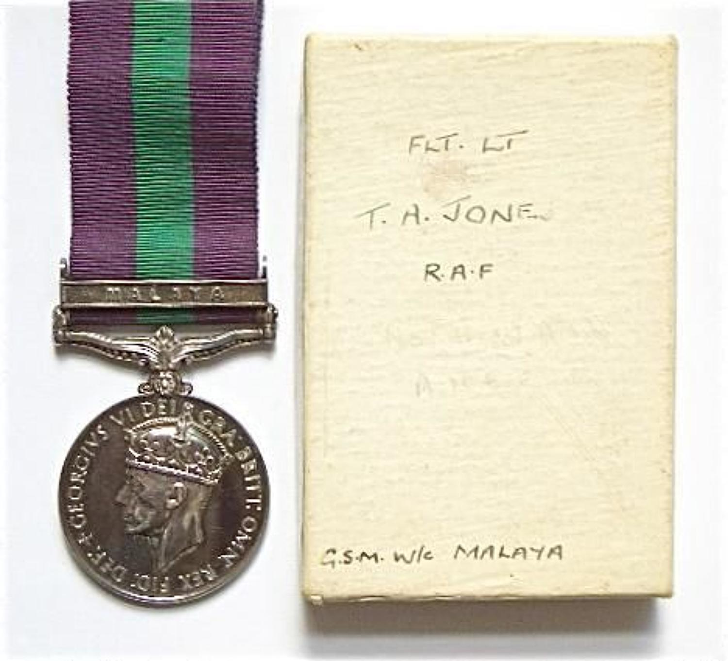 Royal Air Force Officers General Service Medal Clasp Malaya