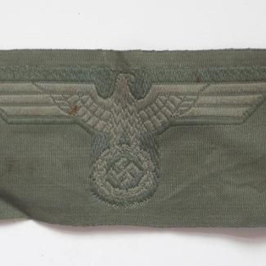 German Third Reich WW2 Army Side Cap Eagle.
