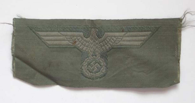 German Third Reich WW2 Army Side Cap Eagle.