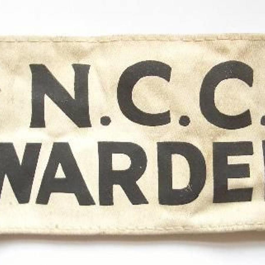 WW2 Civil Defence NCC Wardens Armband.