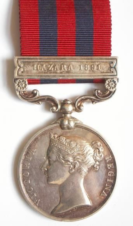 "Royal Welsh Fusiliers India General Service Medal, ""Hazara 1891"
