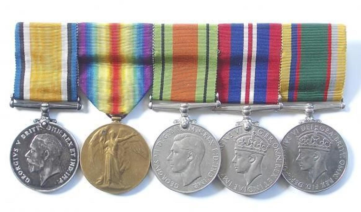 WW1 Suffolk Regiment / City of London Army Cadet Force Medal Group