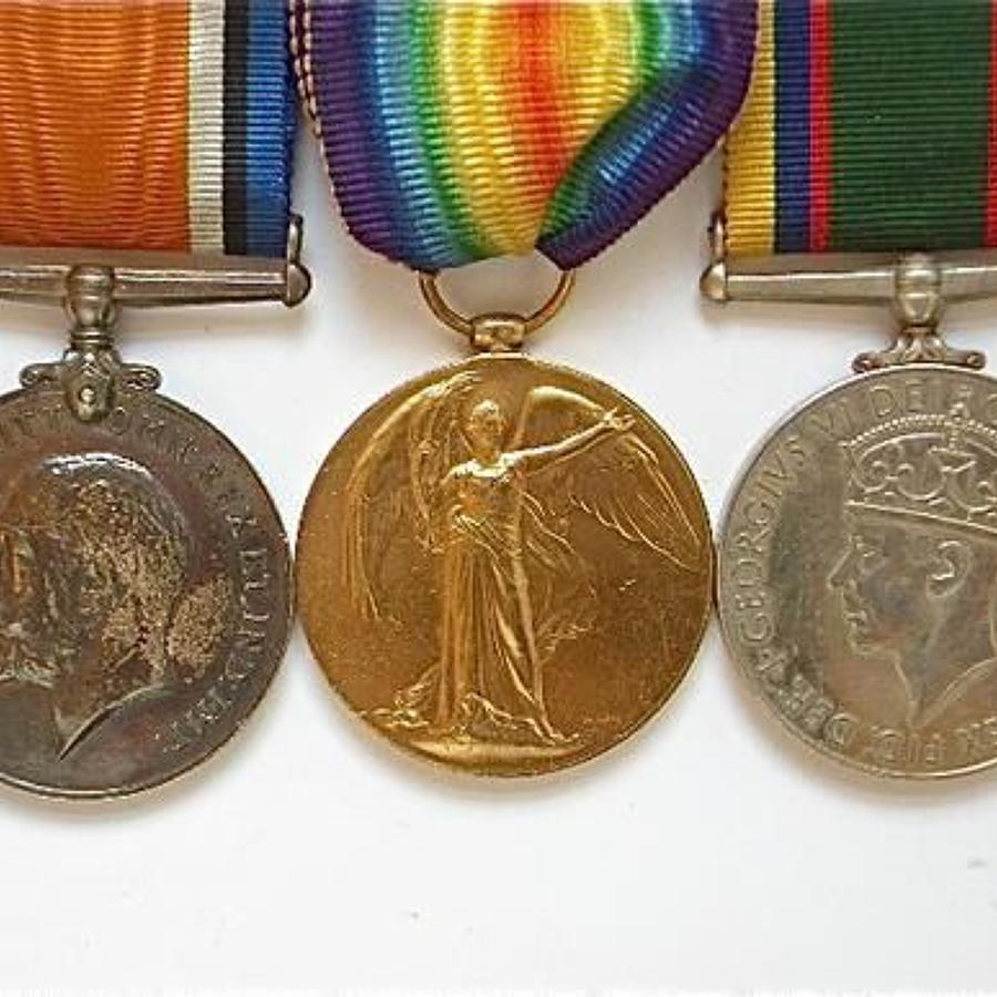 WW1 Suffolk Regiment WW2 Air Training Corps Officer's Group of Medals.