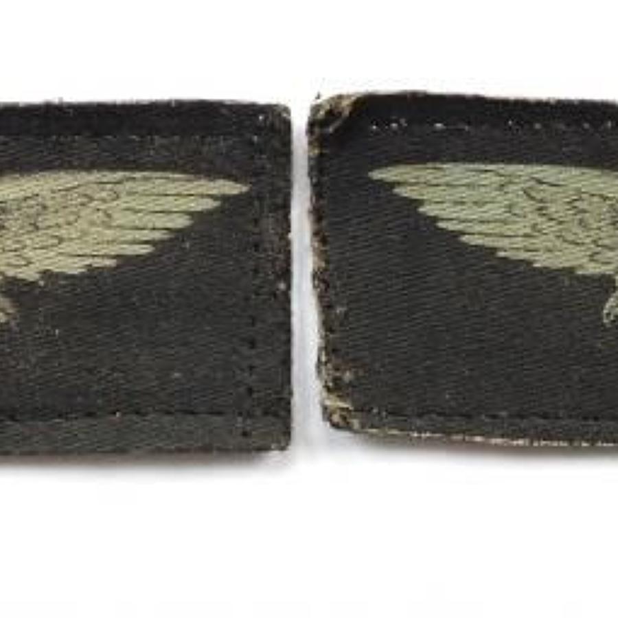 WW2 RAF Pair Printed Shoulder Eagles.