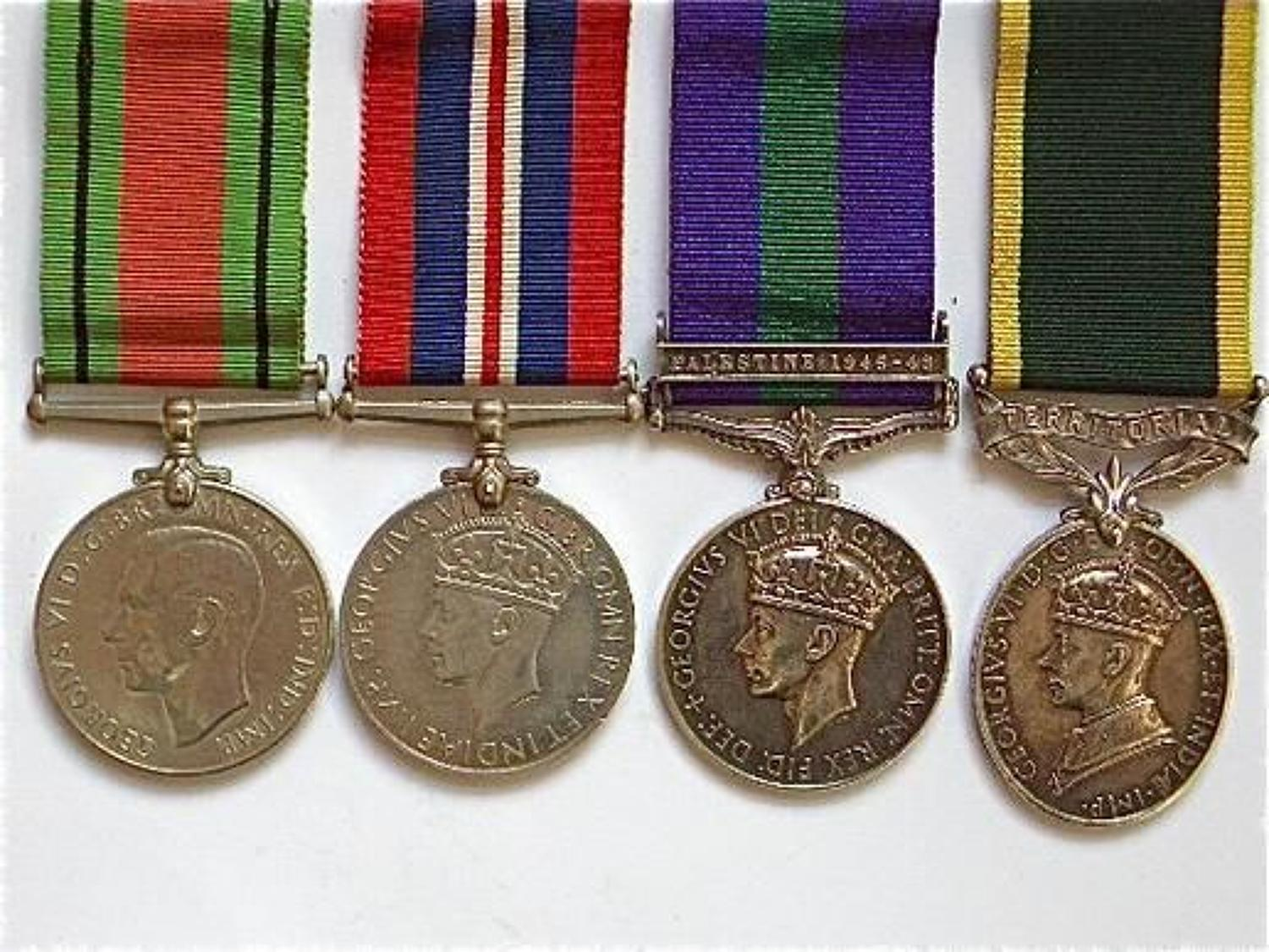 Sherwood Foresters WW2 Territorial Group of Four