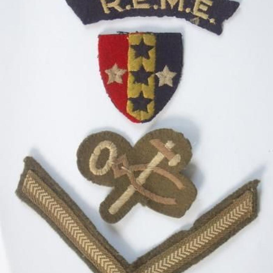 REME Arm Cloth Insignia.