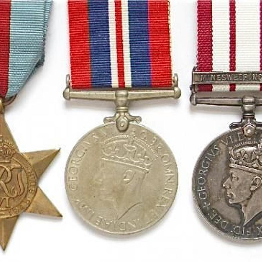 Royal Navy Naval General Service Medal Clasp Minesweeping 1945-51
