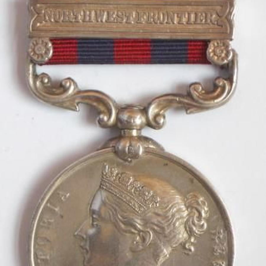 "32nd Regiment India General Service Medal 1854, clasp ""North West Fr"