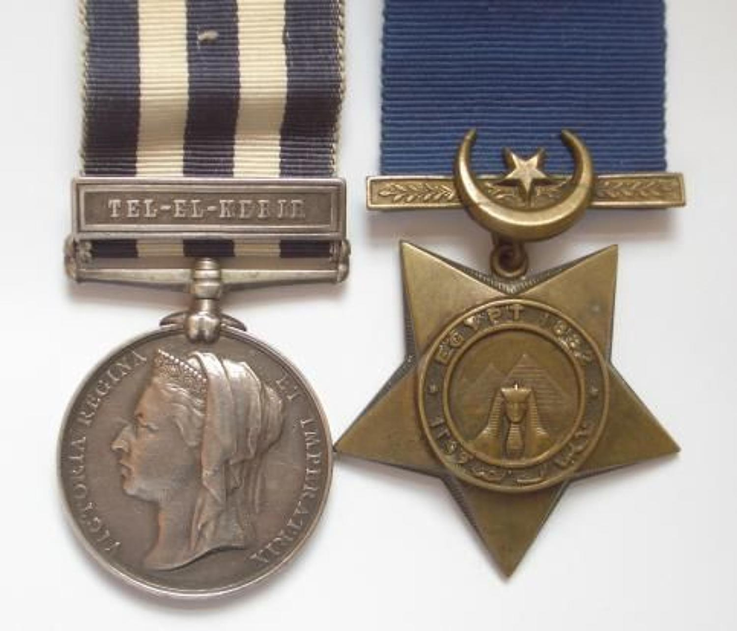 2nd Bn Grenadier Guards One clasp Egypt Pair of Medals.
