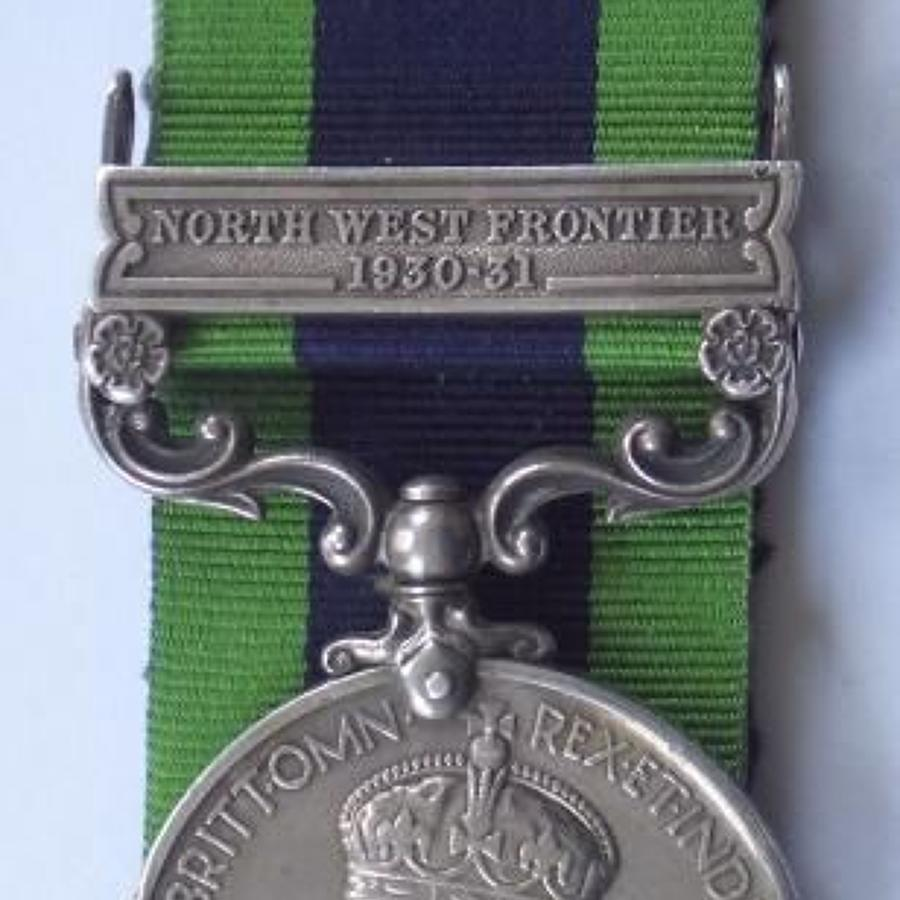 "Seaforth Highlanders India General Service Medal, clasp ""North West"