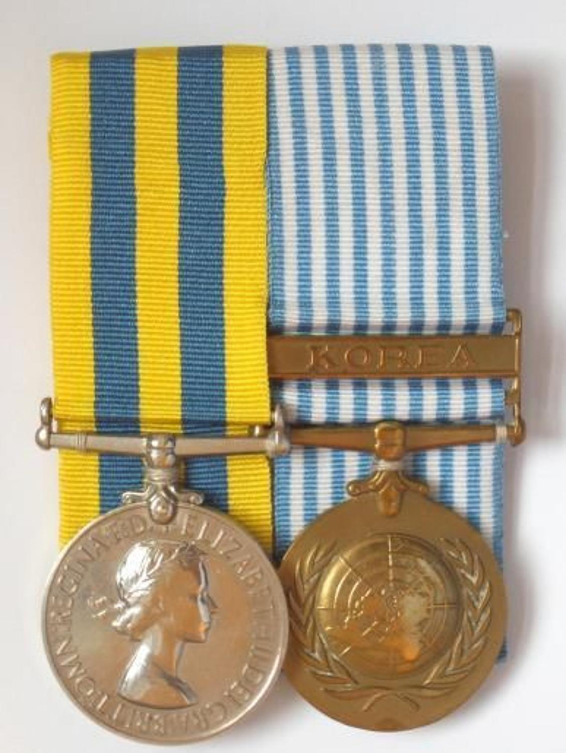 1st Bn King's Shropshire Light Infantry Korea War Pair of Medals.