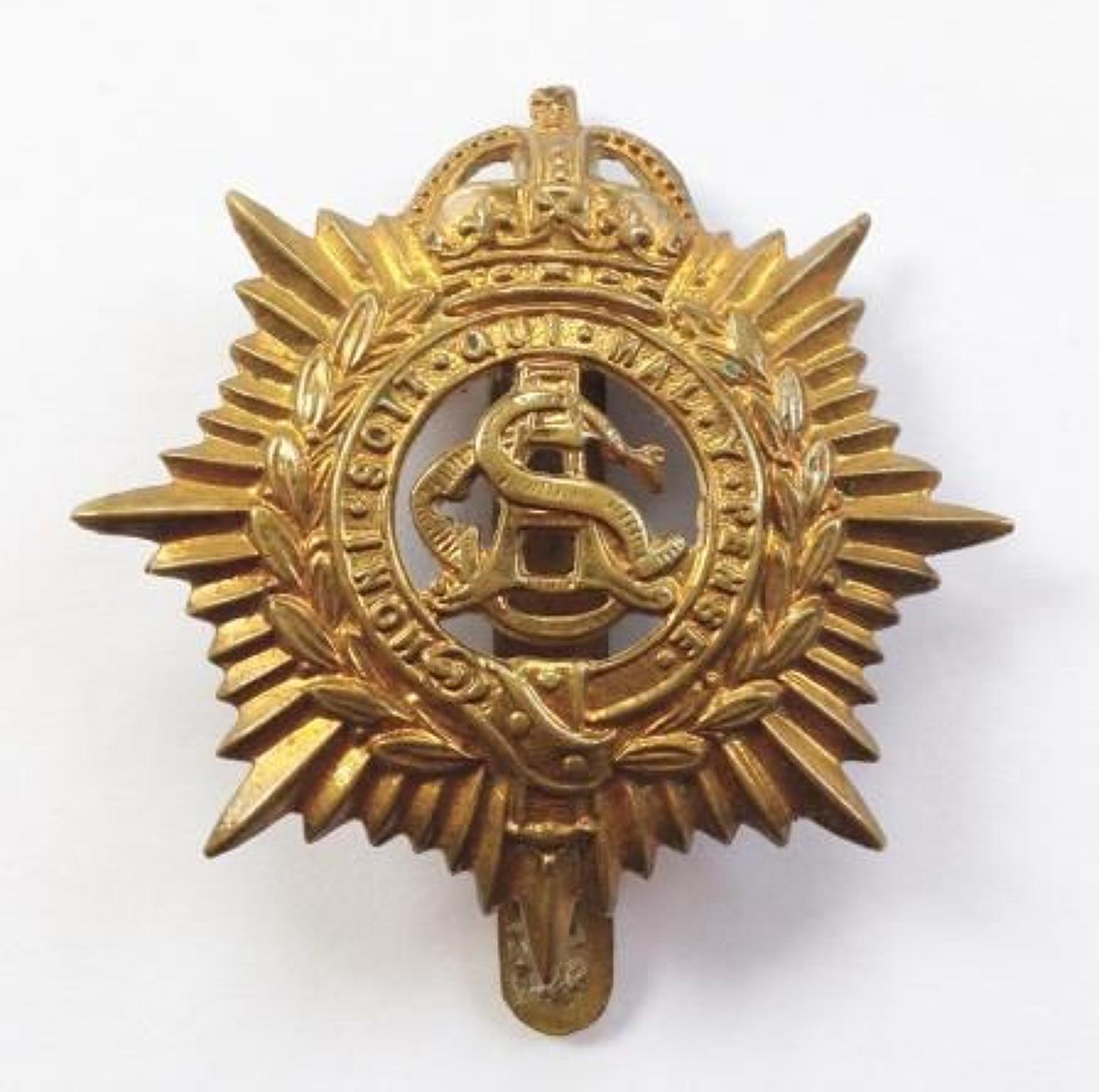 WW1 Army Service Corps Personalised Cap Badge.