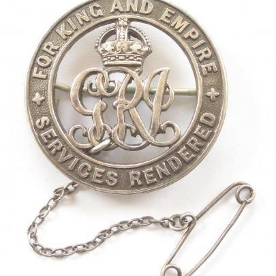 WW1 South African Silver War Badge.