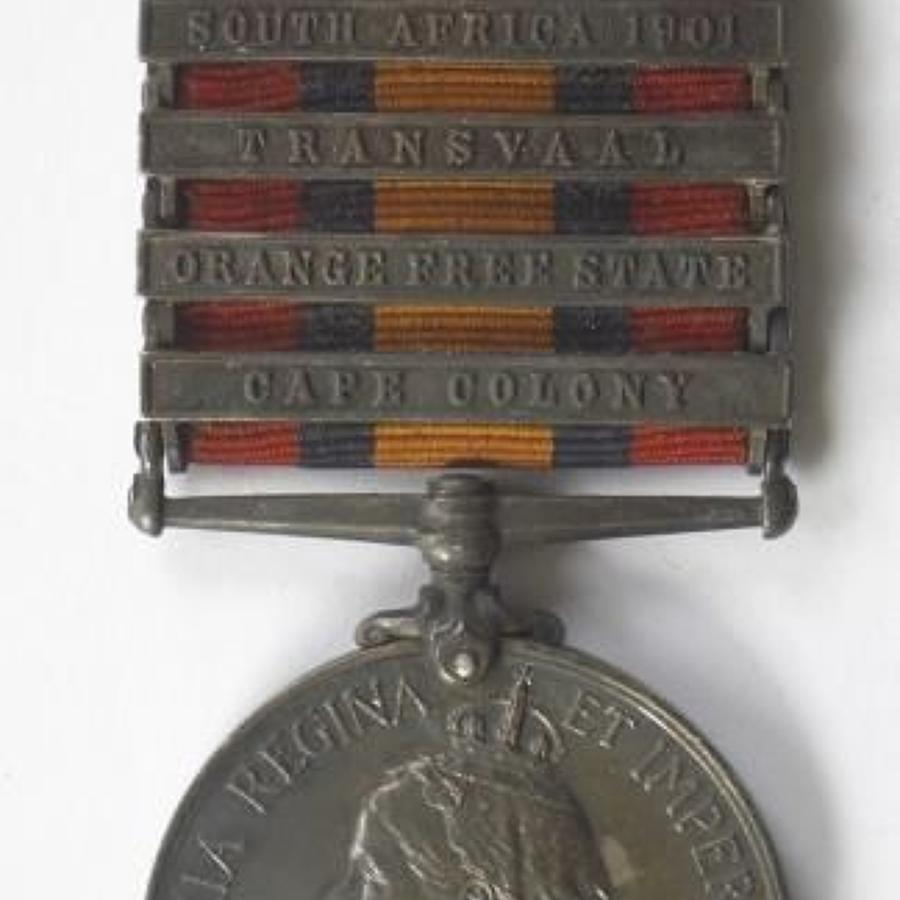 Boer War South African Constabulary Queens South Africa Medal.