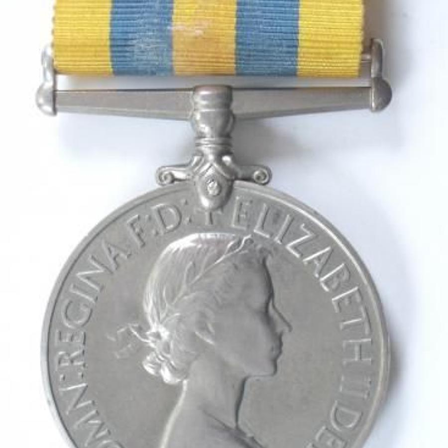 Royal Navy Queens Korea Medal.