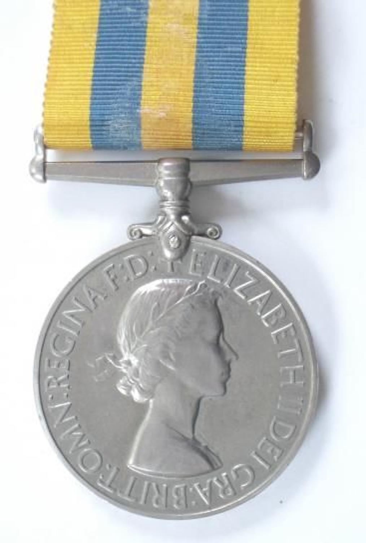 Royal Navy Queens Korea Medal.
