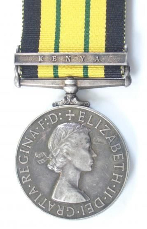 Kings Shropshire Light Infantry Africa General Service Medal. Clasp Ke