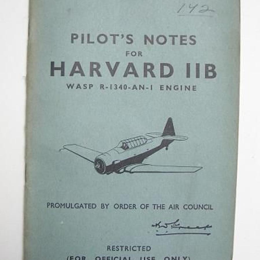 RAF WW2 Period Original Pilots Notes for the Harvard IIB.